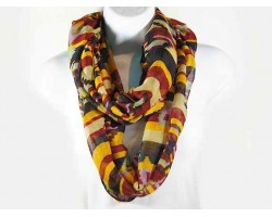 Black Aztec with Lines Design Infinity Scarf