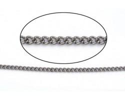 Gun Metal 3mm Curb Chain