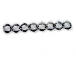 Gunmetal 11x15mm Flat Curb Chain