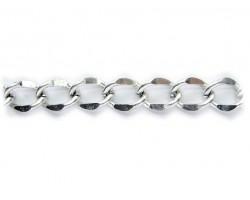 Antique Silver 11x15mm Flat Curb Chain