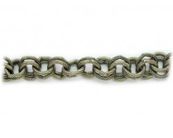 Antique Gold 11mm Double Round Link Rope Style Chain