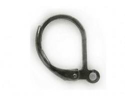 Gunmetal Plain Leverback Euro Ear Clip