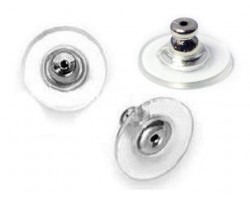 Silver Earnuts with Comfort Cushion Clutch