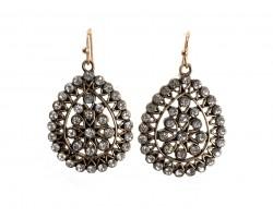 Clear Crystal Boho Hook Earrings