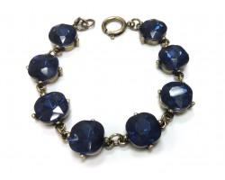 Montana Crystal Cabochon Gold Link Bracelet