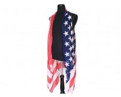 USA Flag Bright Sleeveless Long Tailed Cardigan