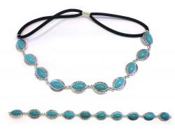 Turquoise Marquise Stones Stretch Hatband