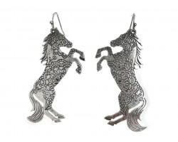 Gold Horse Hook Earrings