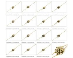 Gold Plate Cursive Initial Double Chain Bracelet 10 Pack