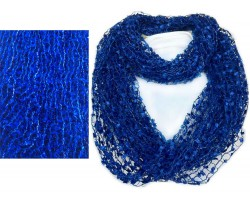 Blue Lightweight Confetti Knit Infinity Scarf
