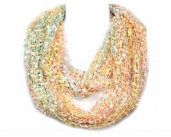 Light Multi Lightweight Confetti Knit Infinity Scarf
