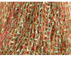 Mint Coral Yellow Confetti Knit Infinity Scarf Lightweight
