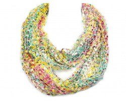 Multi Lightweight Confetti Knit Infinity Scarf