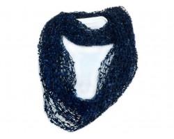 Navy Lightweight Confetti Knit Infinity Scarf