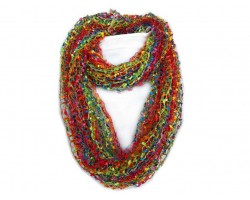 Neon Multi Lightweight Confetti Knit Infinity Scarf