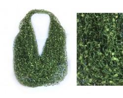 Green Olivine Lightweight Confetti Knit Infinity Scarf