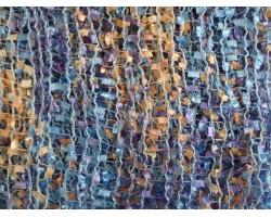 Purple Peach Blue Lightweight Confetti Knit Infinity Scarf