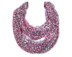 Purple Lightweight Confetti Knit Infinity Scarf