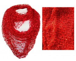 Red Lightweight Confetti Knit Infinity Scarf