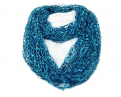 Turquoise Lightweight Confetti Knit Infinity Scarf
