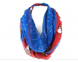 Red Blue Football Theme Infinity Scarf