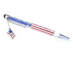 USA Pen Stylus Crystal Filled Pen Tube