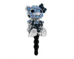 Bear with Ribbon Montana Crystal Phone Plug