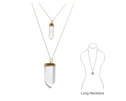 Clear Quartz Crystal Pendants Necklace