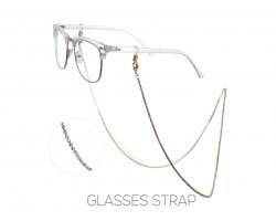 Gold Clear Crystal Eye Glasses Strap