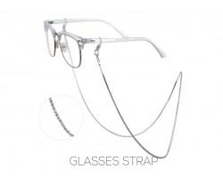Silver Clear Crystal Eye Glasses Strap
