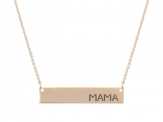 Gold Mama Bar Message Necklace
