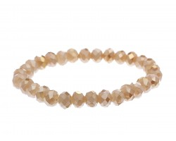 Light Colorado Topaz Crystal Rondell Stretch Bracelet