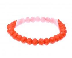 Orange Crystal Rondell Stretch Bracelet