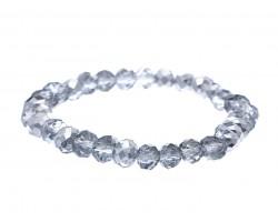Silver Crystal Rondell Stretch Bracelet