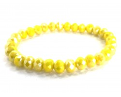 Yellow Crystal Rondell Stretch Bracelet