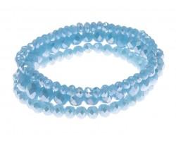 Aqua Crystal Stretch Bracelets 3 Set