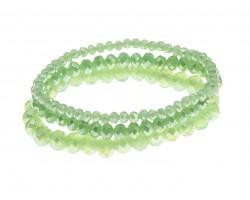 Light Green Crystal Stretch Bracelets 3 Set