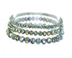 Viteral Medium Crystal Stretch Bracelets 3 Set