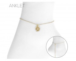 Gold Paw Anklet