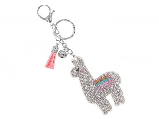 Multi Llama Crystal Puffy Key Chain