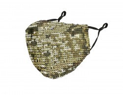 Old Gold Sequin Face Mask