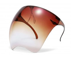 Brown Bubble Face Shield