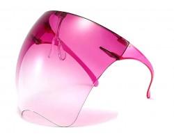 Fuchsia Bubble Face Shield