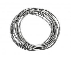 Gunmetal Guitar String Bracelet 10pc Set