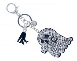 Clear Crystal Ghost Puffy Key Chain