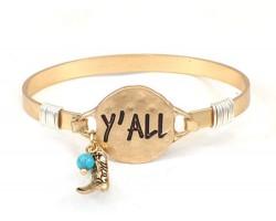 Matt Gold Y'ALL Hook Bracelet