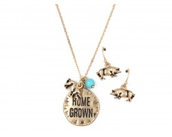 Gold Home Grown Necklace Set