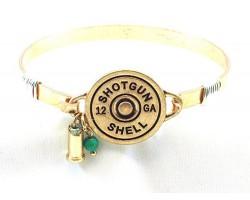 Gold Bullet Back Wire Wrap Bracelet