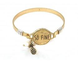 Gold So Fine Pineapple Wire Wrap Bracelet