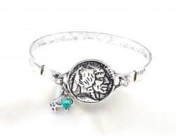 Silver Buffalo Nickel Wire Wrap Bracelet